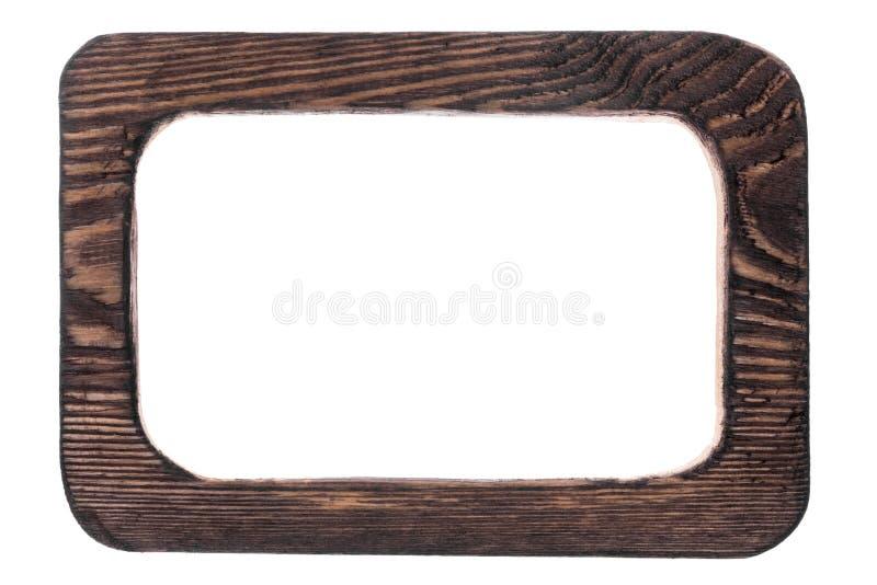 Stroju jednoczęściowy rocznika drewniana rama, odosobniona na białym tle zdjęcie royalty free