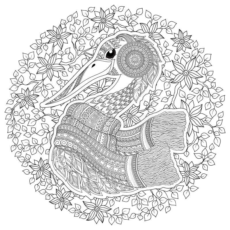 Strok, фантастические цветки, ветви, листья иллюстрация штока