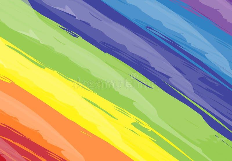 Strok abstracto del acrílico del diseño de la textura de la pintura del cepillo del fondo del arte libre illustration