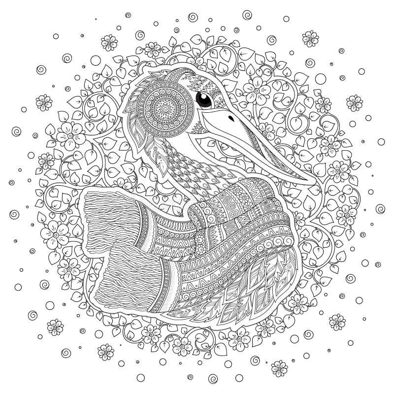 Strok, fiori fantastici, rami, foglie royalty illustrazione gratis