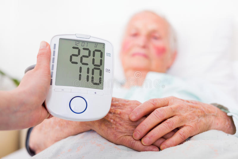 Stroke danger - high blood pressure royalty free stock photos