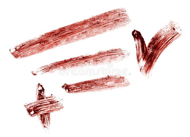 Stroke of eye shadow pencil
