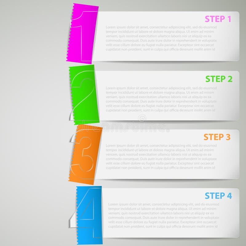 Stroken de van een privé-leraar van het document met kleurenstickers stock illustratie