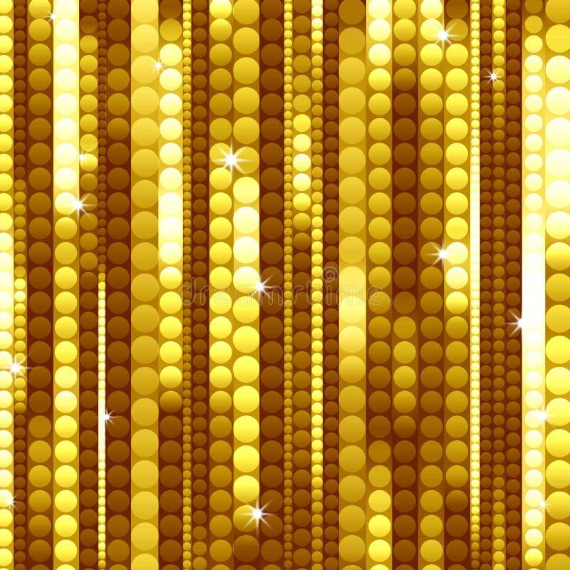 Stroken van glanzende gouden cirkels stock illustratie