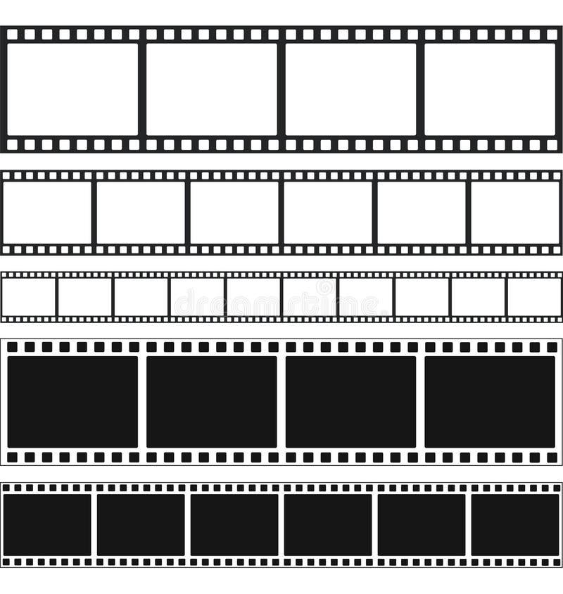 Strokenfilm en zegelsinzameling, voorraad vectorillustratie vector illustratie