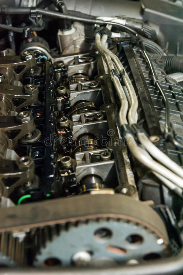 Strokes. Details of a car engine strokes royalty free stock photos
