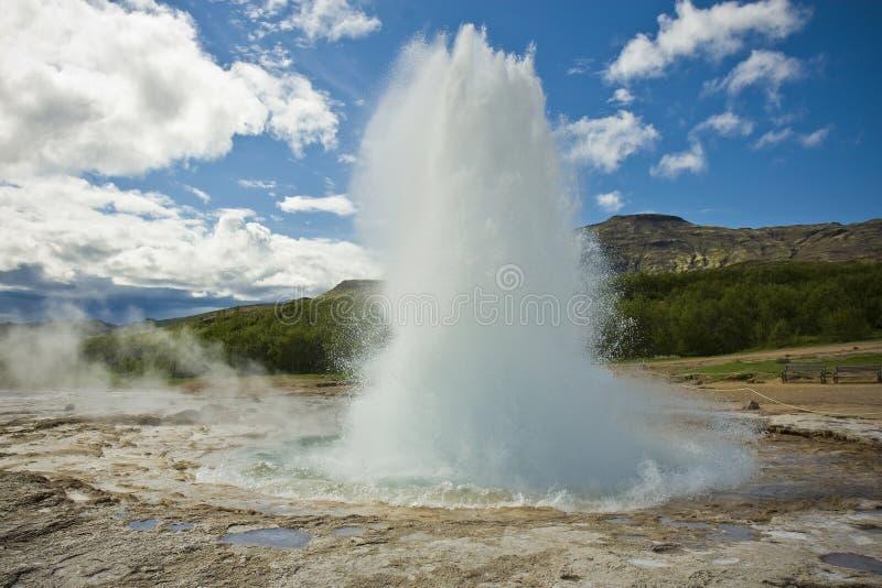 Strokkur geyser stock image