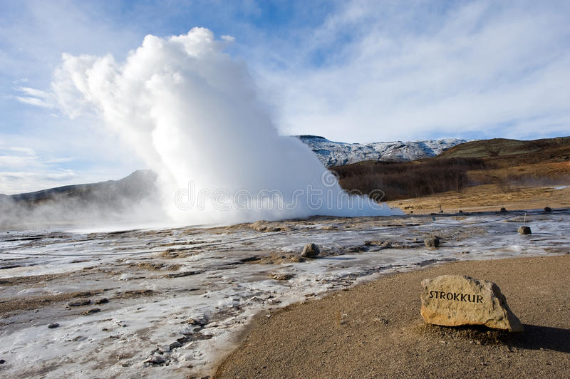 Download Geyser exloding in Iceland stock image. Image of eruption - 30122415
