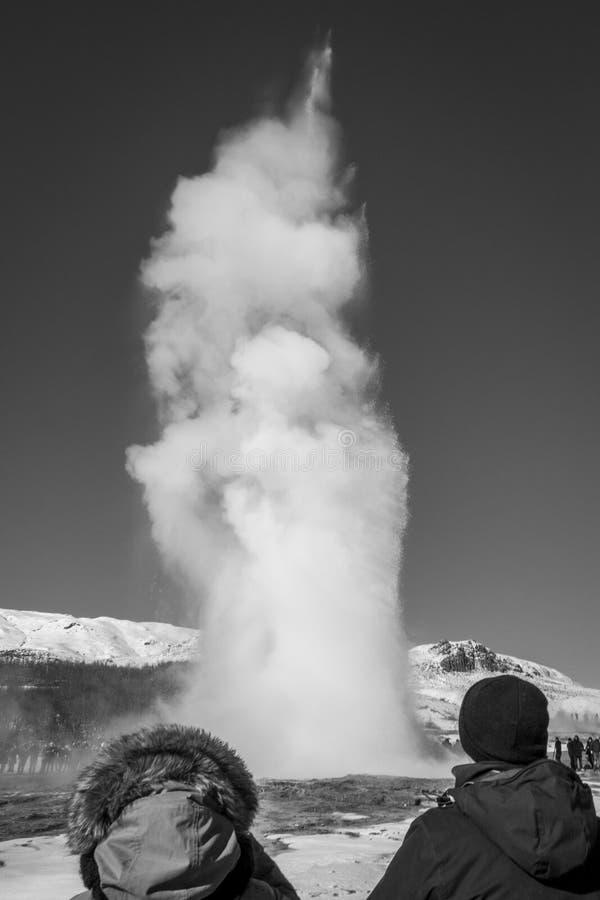 Strokkur - Geysir en Islande photos stock