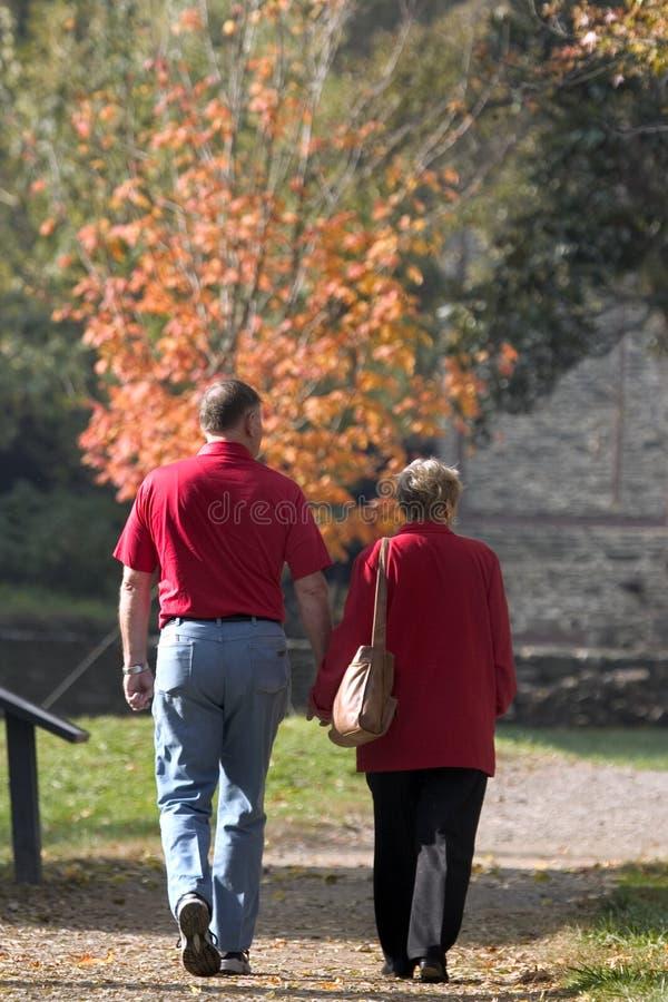 Stroll d'automne en stationnement image libre de droits