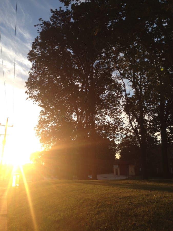 Stroll de coucher du soleil images stock