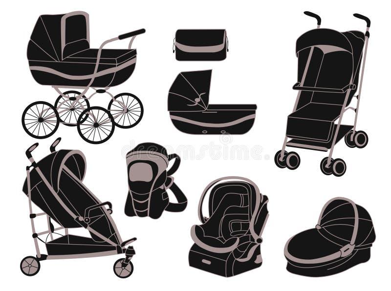 strollers royaltyfri illustrationer