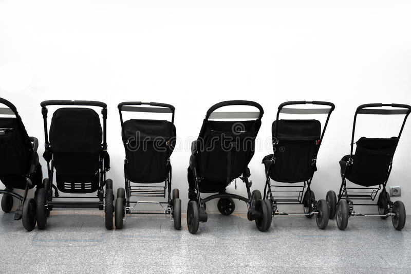 Strollers royalty free stock photography