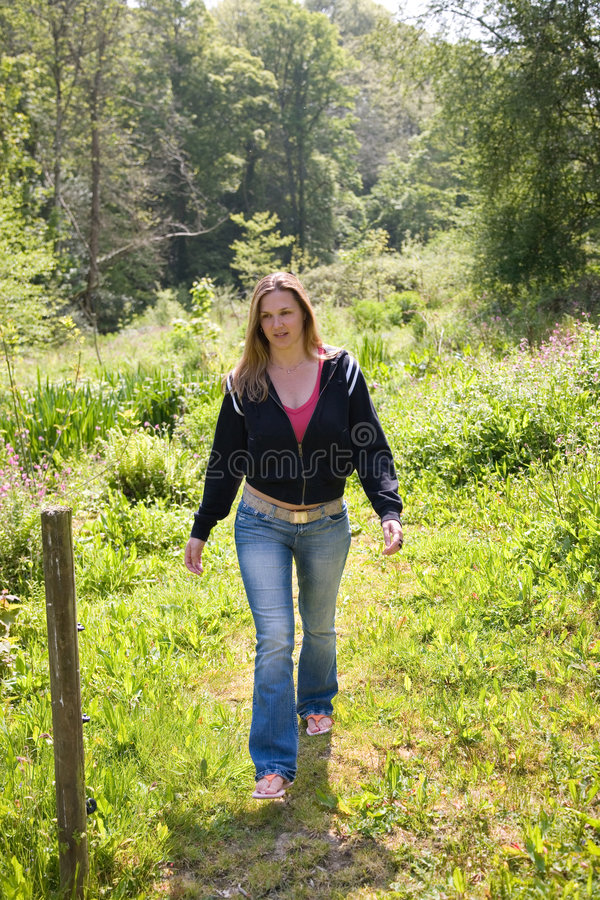 Strolling through the field royalty free stock photos