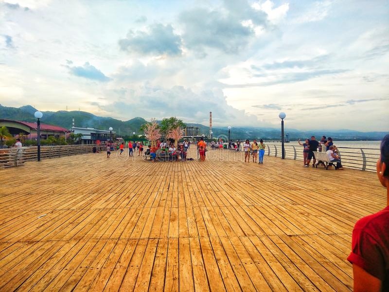 BAYWALK, CITY OF NAGA PHILIPPINES. Strolling with friends royalty free stock photography