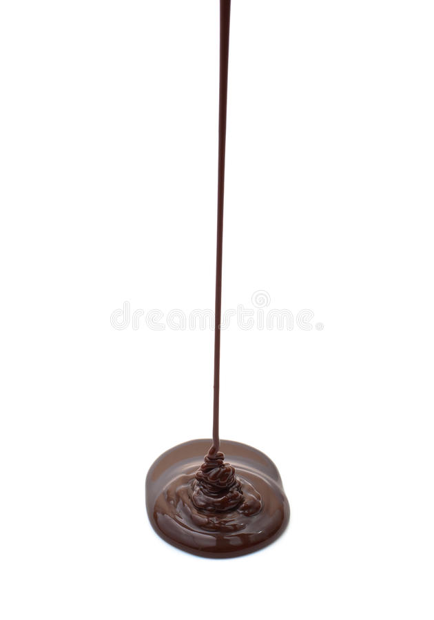 Strom der heißen Schokolade trennte lizenzfreie stockfotos