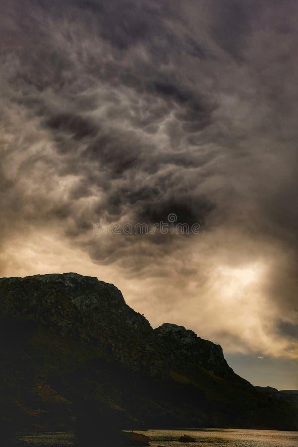 Strom moln arkivfoton