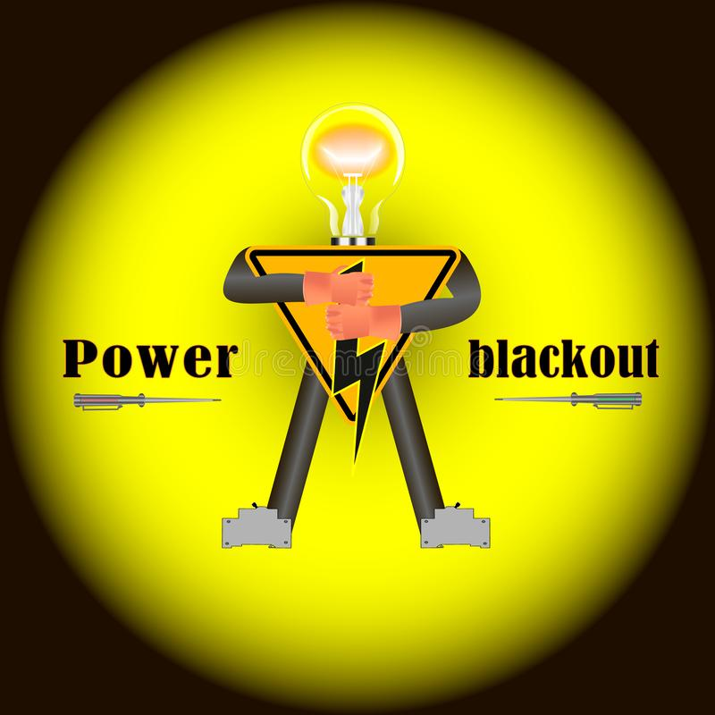 Stromausfall aber nicht für uns vektor abbildung