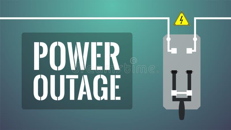 Stromausfallkonzept Abgestellter Messerschalter lizenzfreie abbildung