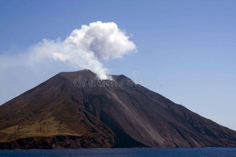 stromboli острова стоковые фотографии rf