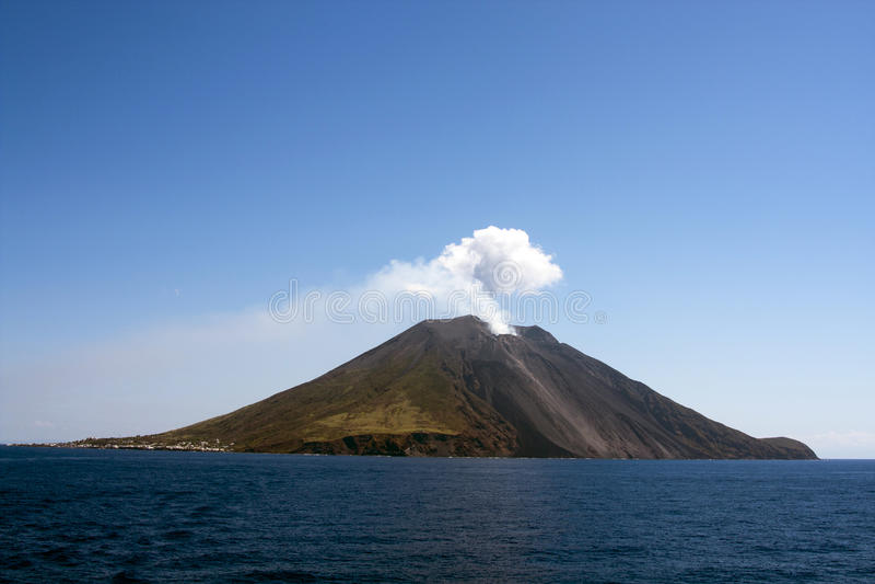 stromboli острова стоковая фотография rf