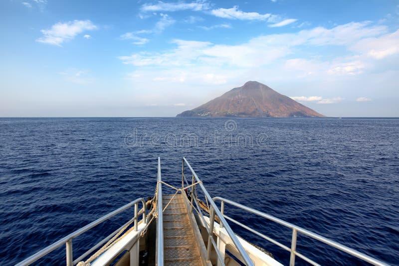 Stromboli-Vulkan stockfotografie