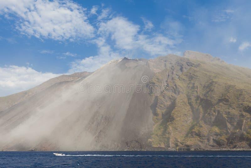 Stromboli-Vulkan lizenzfreie stockbilder