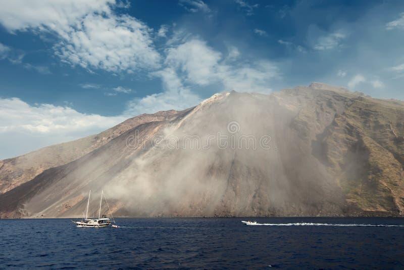Stromboli Vulkan in Italien stockfotografie