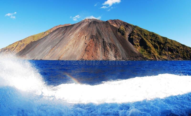 Stromboli-vulkanisch islnd royalty-vrije stock fotografie