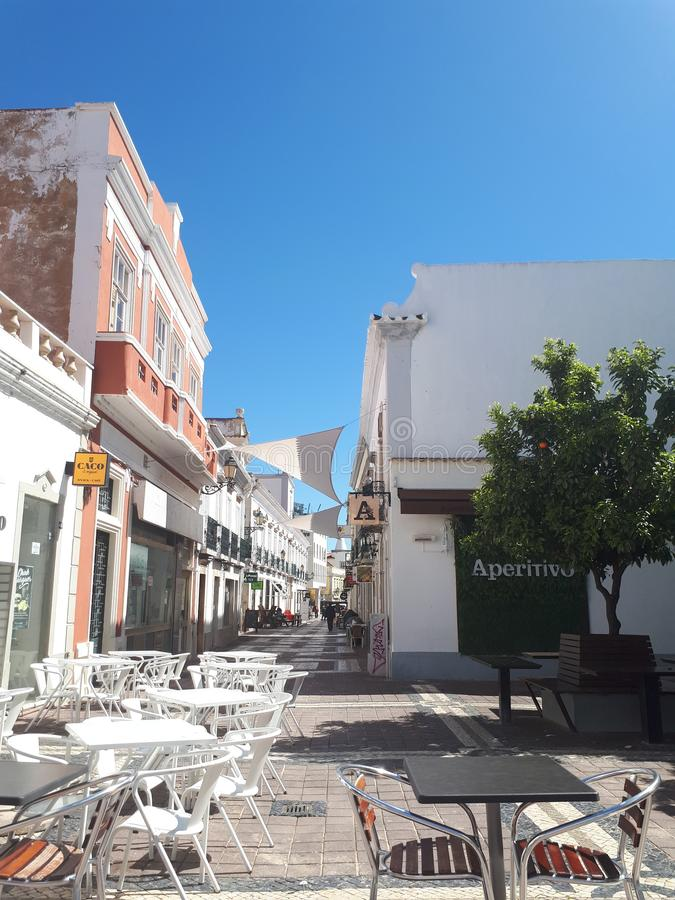 Stromen van Faro royalty-vrije stock fotografie
