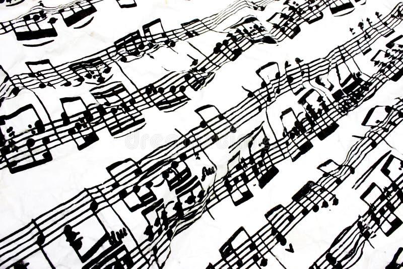 Stromende bladmuziek stock foto