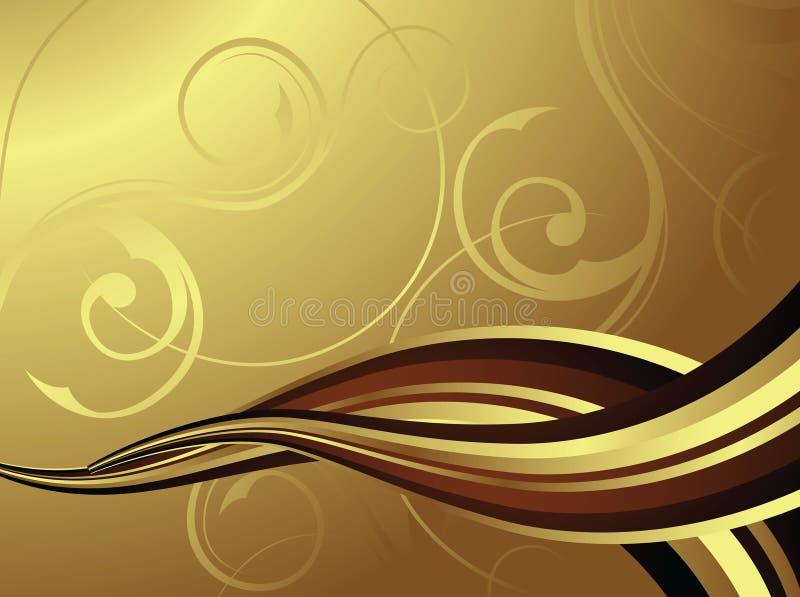 Stromende Chocolade/Koffie royalty-vrije illustratie