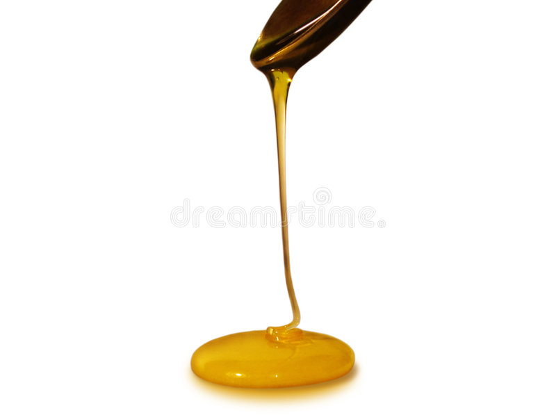 Stromende honing stock foto
