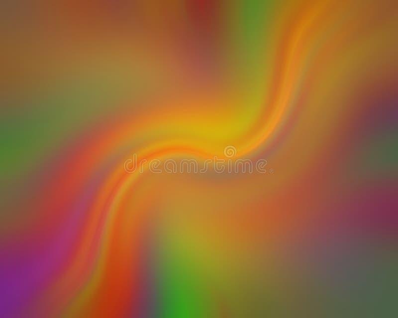 Stromende psychedelische stroken van kleur vector illustratie