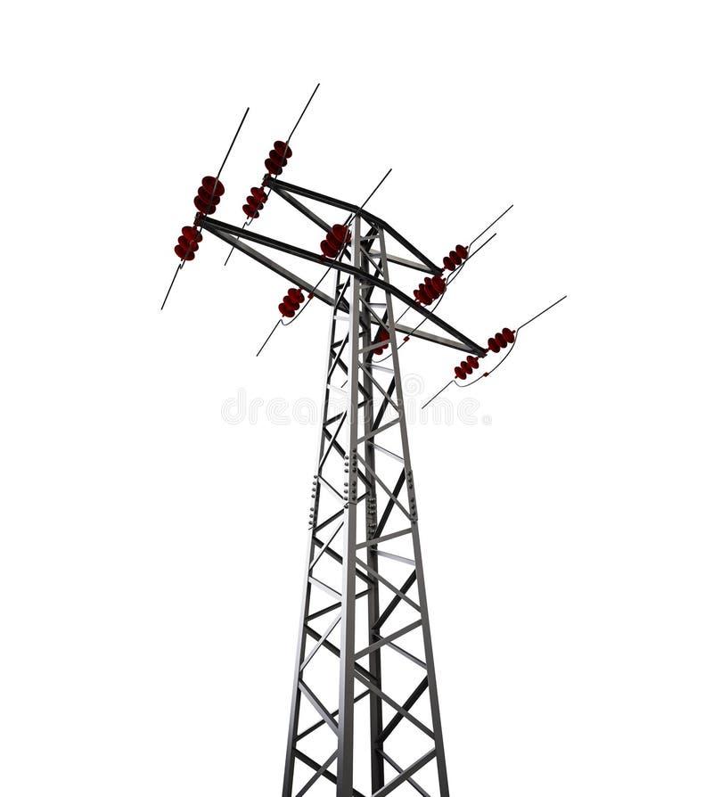 Stromleitung Kontrollturm stockbilder