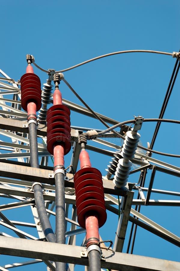 Stromleitung Vorrichtungen stockbilder