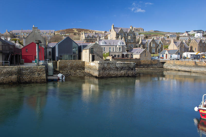 Stromness Harbour, Orkney stock photo