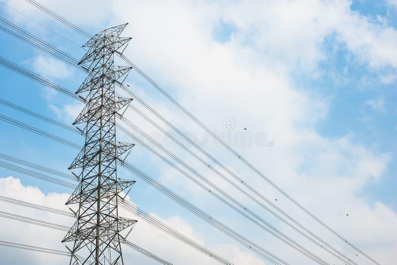 Stromposten stockbilder