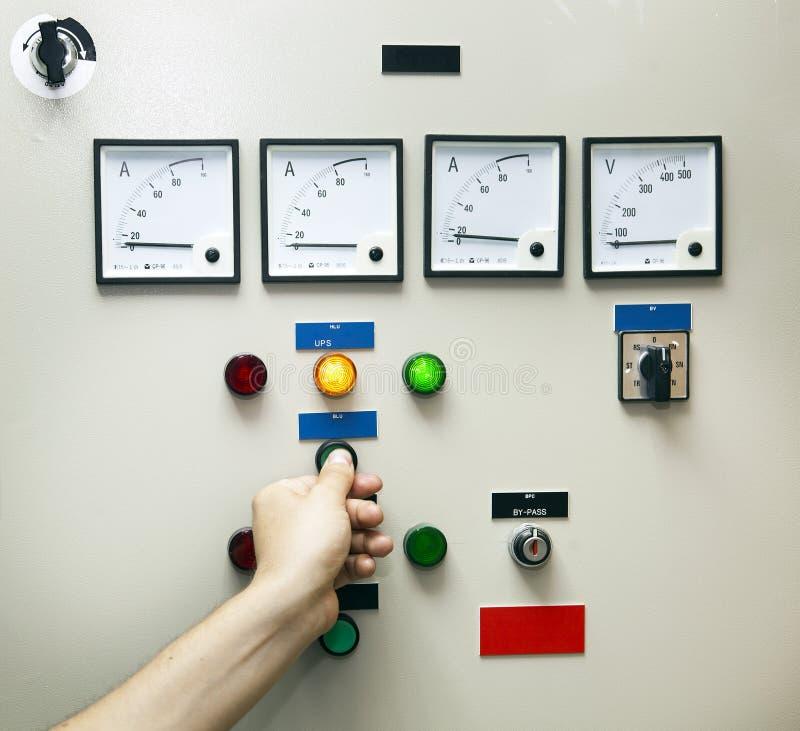 Strom-Steuerung u. Monitor lizenzfreies stockbild