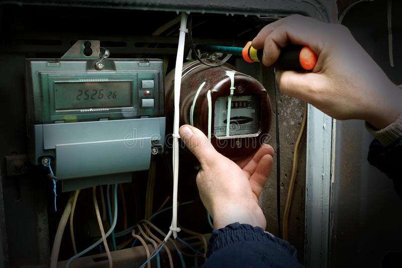 Stromzähler lizenzfreie stockbilder
