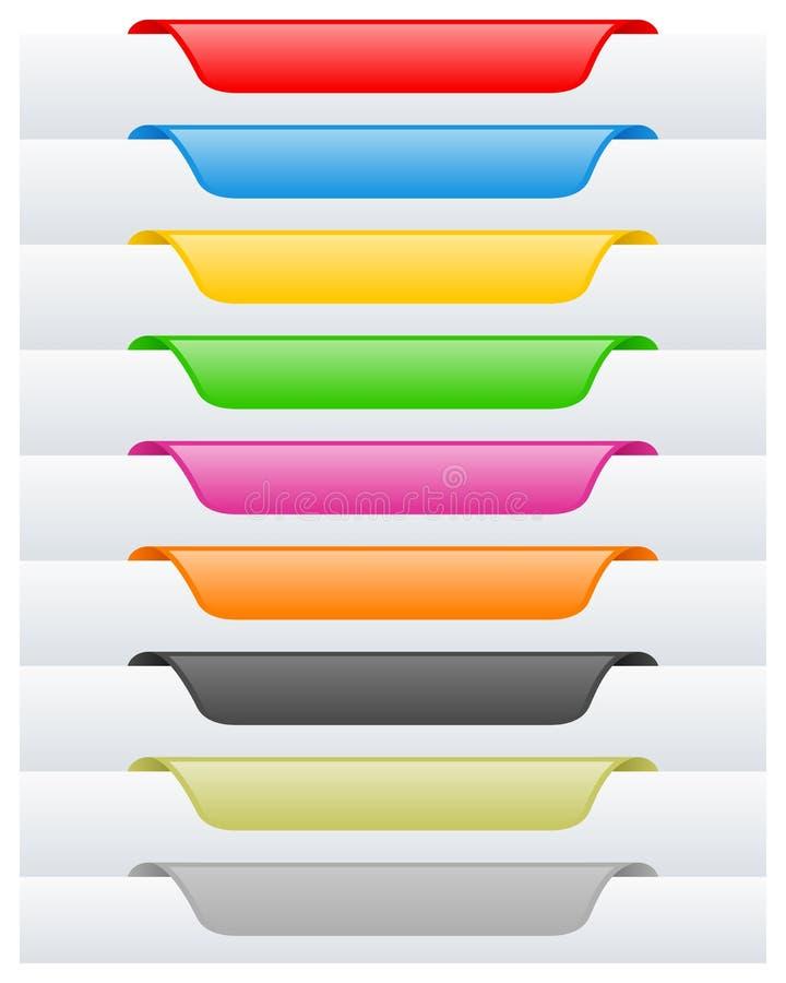 Stron Etykietki Etykietki Ustawiać lub ilustracja wektor
