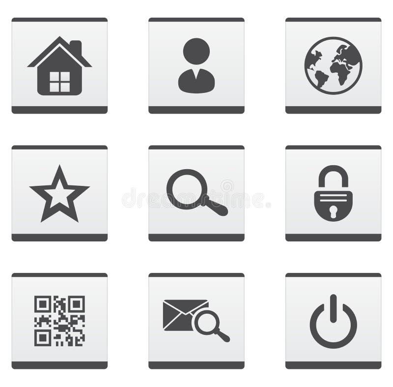 Stron internetowych ikony ustawiać ilustracji