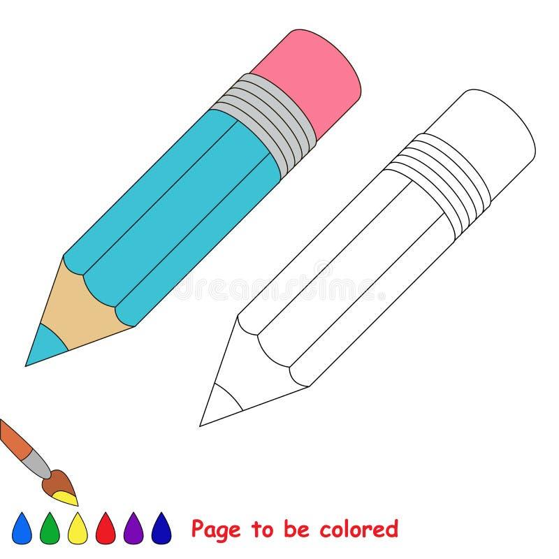 Strona barwić, prosta edukaci gra dla dzieciaków ilustracja wektor