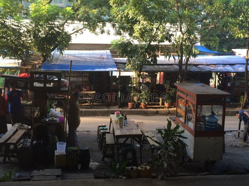 Strona droga w Dżakarta fotografia stock