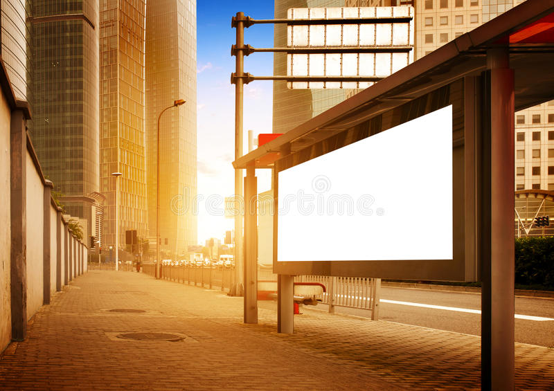 Strona drogowi billboardy obraz royalty free