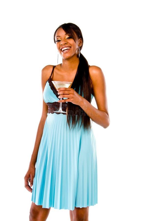 strona dziewczyny Martini zdjęcia stock