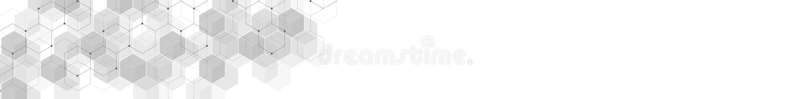 Strona internetowa chodnikowiec lub sztandaru projekt z geometrycznym abstrakcjonistycznym tłem sześciokąta wzór Wektorowa ilustr ilustracji