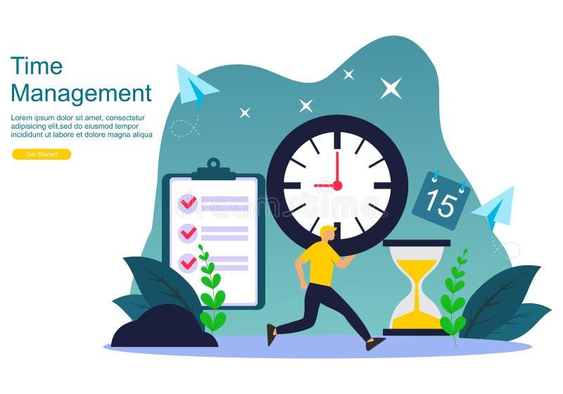 Strona internetowa czasu zarz?dzanie i dojutrkostwa poj?cie planowa? i strategia dla biznesowego sztandaru royalty ilustracja