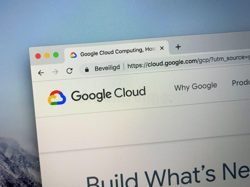 Strona internetowa Google chmury platforma fotografia royalty free