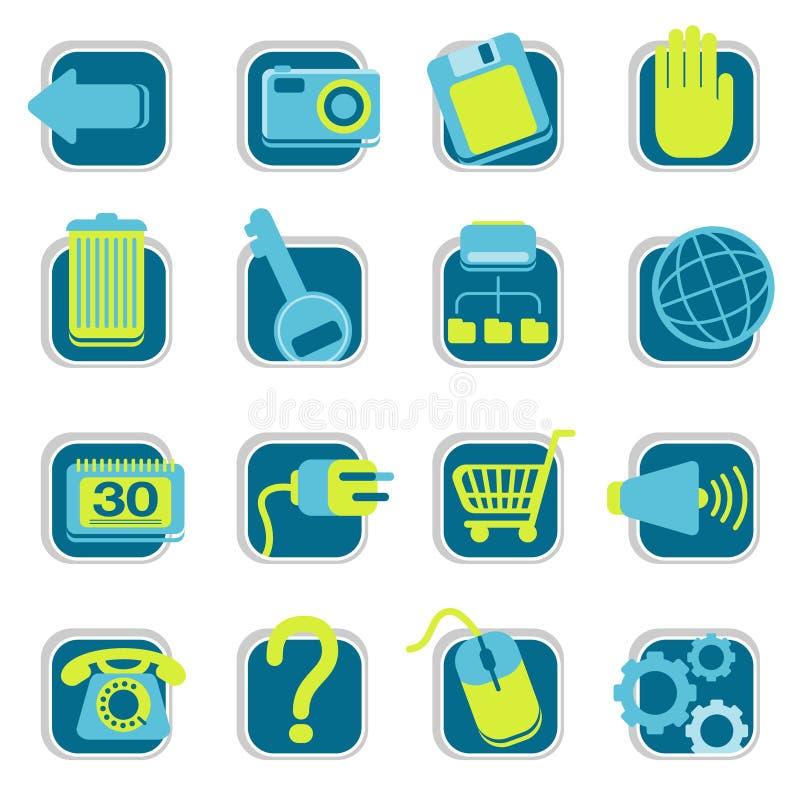 strona internetowa ikony ilustracja wektor